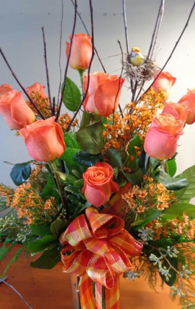 orange roses in chicago