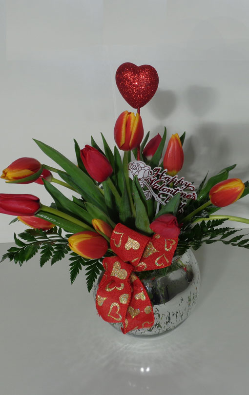 red tulips for my love